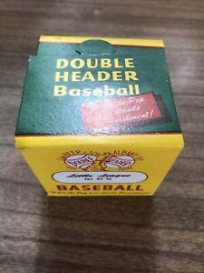 Vintage NOS 1950s  Double Header Baseball, J. De Beer & Son, #91 Little League.
