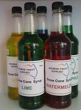 Snow Cone Syrup  5 x 750 ml Assorted Flavours Ready To Use, Fairy Floss, Popcorn