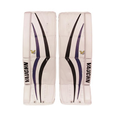 "New Vaughn 1100i Int goalie leg pads Black/ Blue 30""+2 Velocity V6 ice hockey"