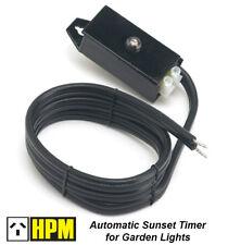 Automatic Dusk to Dawn Garden Light Sensor Timer for 12V Garden Lights Sunset