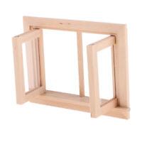 Retro 1/12 Dollhouse Miniature DIY Accessory Unpainted 2 Pane Window Frame