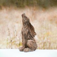 Rustic Natural Wood Effect Rabbit Garden Ornament Sculpture Outdoor Indoor Gift