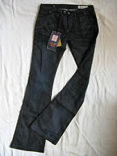 We Are Replay Femmes Blue Jeans Stretch w28/l34 Low Waist Slim Fit Flare Leg