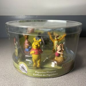 NIB Disney Store Winnie The Pooh 5-Piece Figure Play Set Store Play-mat Included