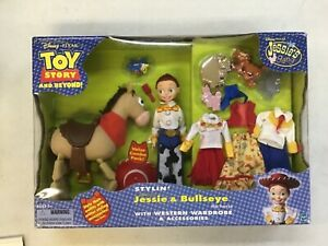 TOY STORY AND BEYOND! STYLIN' JESSIE & BULLSEYE THE HORSE W/WESTERN WARDROBE