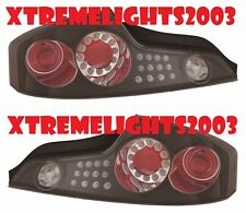 FITS INFINITI G35 COUPE 2003-2005 BLACK LED TAILLIGHTS TAIL LIGHTS OUTER LAMPS