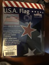 New listing U.S. Flag 3' x 5' Quality with Brass Grommets Proudly Made in U.S.A.New Sealed