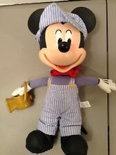 """12"""" Pull String Mickey Mouse Conductor Doll With Lantern Disney"""