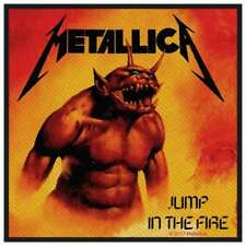 Metallica-patch écusson Jump in the fire 10 x 10 cm