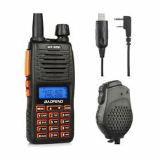 Baofeng GT-5TP 8W High Power Dual Band Two Way Radio with Win 10 Cable & Speaker