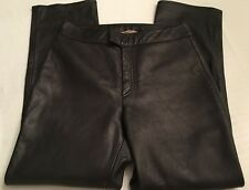 Women's Rem Garson Black Leather Riding Motorcycle Pants Size 12 (10)