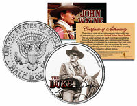JOHN WAYNE - THE DUKE * True Grit * JFK Kennedy Half Dollar US Coin * LICENSED *