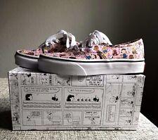 🥜VANS Peanuts Authentic Dance Party Pink Kids Lace-Up Shoes Size 12.5 New!