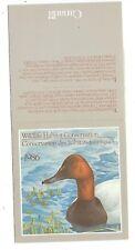 Canada Wildlife Habitat Conservation #FWH2 (Ducks) 1986 complete booklet.