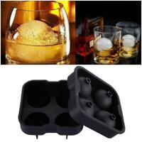 Round Ice Ball Maker Sphere Tray Silicone Mold Cube for Whiskey Cocktails