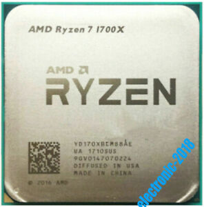 AMD Ryzen 7 1700X R7-1700X CPU Processor 3.4 GHz 8-core Socket AM4 Desktop