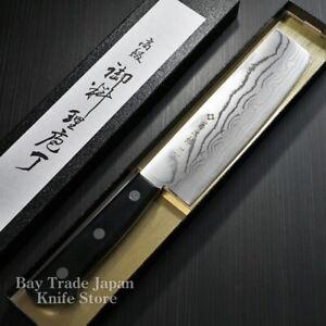 Japanese Tojiro DP Damascus VG10 Kasumi Nakiri Usuba Kitchen Knife F-330 Japan