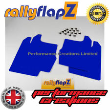 4 mm universel PVC-FORD FOCUS RS MK1 Bavettes 400 mm x 450 mm Qty4 Bavette Bleu
