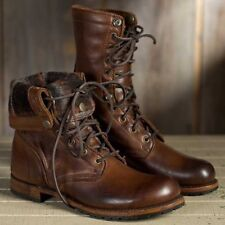 High Top Men's Motorcycle Shoes Vintage Military Punk Boots Fashion Combat Boot