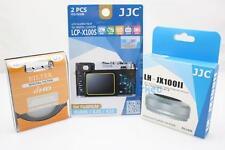JJC 3PC SET for Fujifilm X100T - 49mm UV Filter+ Lens Hood JX100II(S)+Guard Film