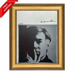 Andy Warhol Original Hand Signed Print with COA