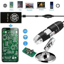 USB Digital Mini Microscope 40-1000x Magnification 8LED's Camera Magnifier Stand