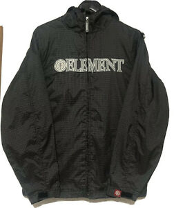 Element Hooded Jacket Black Check Colour. Size Small. Windbreaker