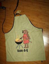 Hatley Funny Cotton Bib Apron Bark Bq B Que Barbecue Party Unisex Chef Hot Dog
