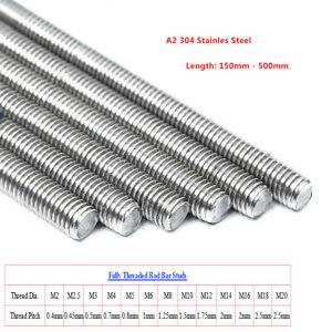 M2 bis M20 Gewindestangen Gewindestab DIN 975 976 Edelstahl A2 V2A Gewindebolzen