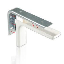 Regalträger + Kunstoffabdeckung Winkelträger Metall Regalkonsole - Chrom / Weiss
