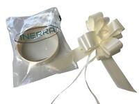 INERRA® Wedding Car Decoration Kit - Ready Made Bow & 7 Metres Ribbon - Cream