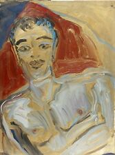 "Hunt Slonem, ""Andy XTC"", oil on paper, 1996, new lower price, Xmas offer!"