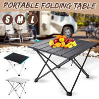Portable Folding Table Aluminum Alloy For BBQ Camping Picnic Beach