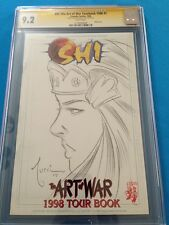 Shi Art of War 1998 Tour Book - Crusade - CGC SS 9.2 - Sketched by Billy Tucci