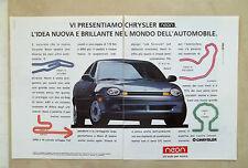E775- Advertising Pubblicità -1995- CHRYSLER NEON , UN'AUTO PER AMICA