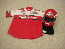 1999 KENNY BERNSTEIN AUTOGRAPHED SIGNED NHRA TOP FUEL HELMET & DRIVERS SHIRT