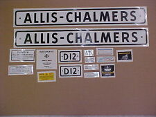 Decal set for Allis Chalmers D12 decal set, TRACTOR