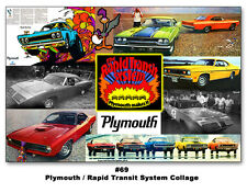 The Plymouth Rapid Transit System 24x36 Poster Road Runner GTX Cuda Duster 1970