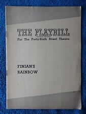 Finian's Rainbow - Forty-Sixth St. Theatre Playbill - August 23rd, 1948 - Wynn
