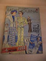 OLD VINTAGE WELDONS LADIES JOURNAL MAGAZINE 1930S FASHION KNITTING WOMENS BOOK
