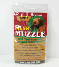 """Top Paw Dog Mesh Muzzle Size 2, No Barking Biting Chewing, 7-12 lbs, 4"""" Nose"""