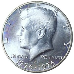 1976-S Kennedy Half Dollar, Lustrous 50c San Francisco Mint Must Have No Res!