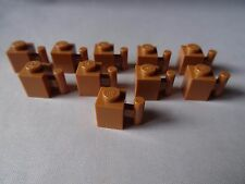 LEGO PART 2931 LIGHT TAN 1 x 1 MODIFIED BRICK WITH HANDLE x 10