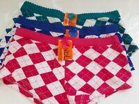 Nahtlose Abschlüsse Hipsterpanty Laser Cut Damen Boxershort 3er Pack