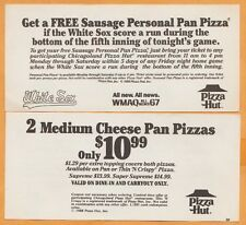 1988 Chicago White Sox Pizza Hut Discount Coupon If Sox Score in Bottom of 5th a