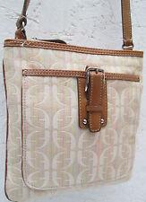 -AUTHENTIQUE sac à main  en cuir et tissu FOSSIL  TBEG vintage bag