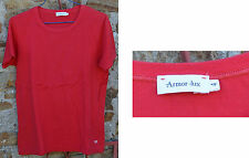 Tee-shirt rouge Armor Lux bon état, taille 4, 100% coton,
