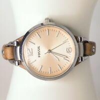 ES2830 Fossil Georgia Women's watch Silver 32 mm Adjustable Quartz (Battery)