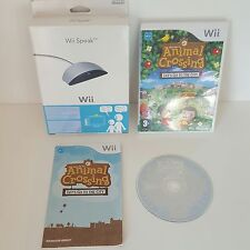 Animal Crossing Let's Go to the City [Wii] + Boxed Wii Speak =pets cat dog zoo