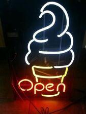 """New Ice Cream Open Neon Sign 17""""x14"""""""